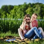 Ania i Damian | Rowerowa sesja dla zakochanych na Sadybie | Warszawa